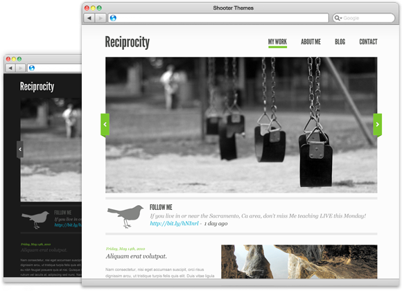 Reciprocity - WordPress Theme for Photographers